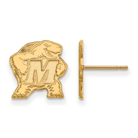 Maryland Small (1/2 Inch) Post Earrings (10k Yellow Gold) - Halloween 10k Maryland