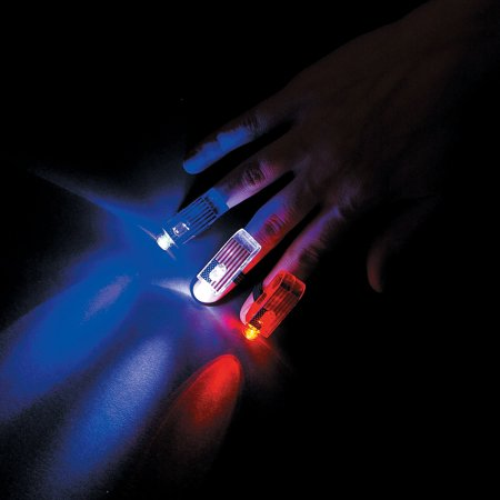 Fun Express - Patriotic Finger Beams for Fourth of July - Toys - Value Toys - Light Up Toys - Fourth of July - 12 (Judy Finger)