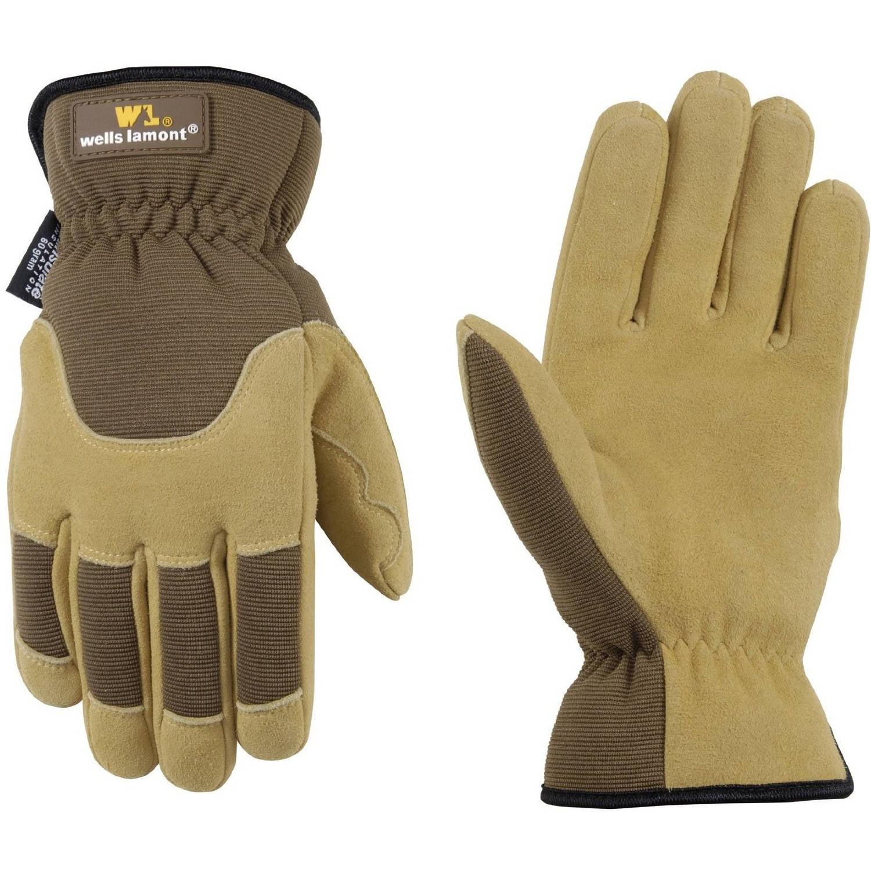 Wells Lamont Premium Suede Deerskin Work Gloves for Men, XL by Wells Lamont