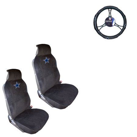 Dallas Cowboys 2 Seat Covers And Wheel Cover