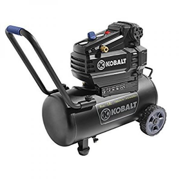 Kobalt 8-Gal Tank Portable Air Compressor 150 PSI Oil Fre...