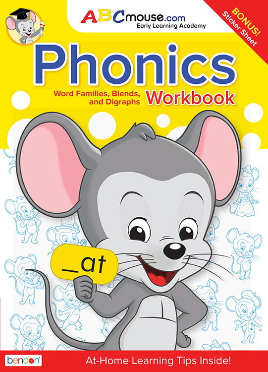 Abcmouse Phonics Word Families 80 Page Workbook With Stickers By Bendon Publishing Walmart Com Walmart Com