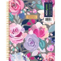"""Mintgreen Spiral Notebook, Dot Ruled, 3 Subject, 105 Sheets, 7.375"""" x 9.75"""", Color Choice Will Vary"""