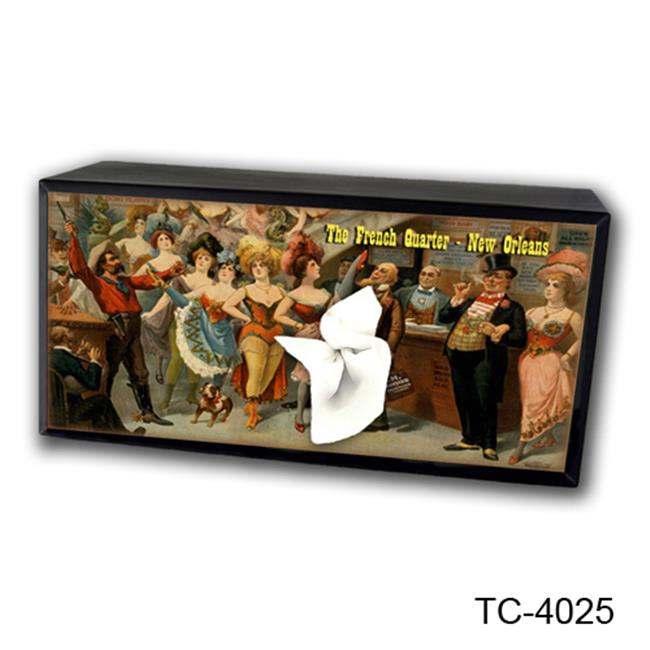 Caravelle Designs TC-4025 Hayseed/French Quater Tissue Box Cover