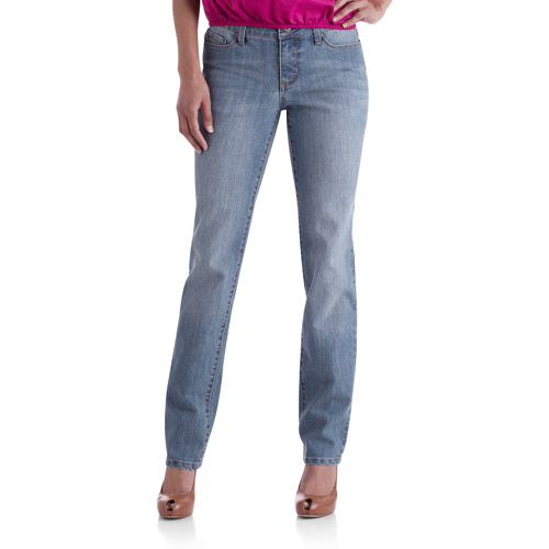 Faded Glory Women's Straight Leg Jeans Available in Regular, Petite, and Tall Lengths