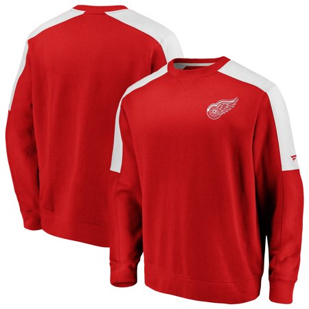 Tomas Holmstrom Detroit Red Wings - Detroit Red Wings Fanatics Branded Iconic Crew Fleece Sweatshirt - Red/White