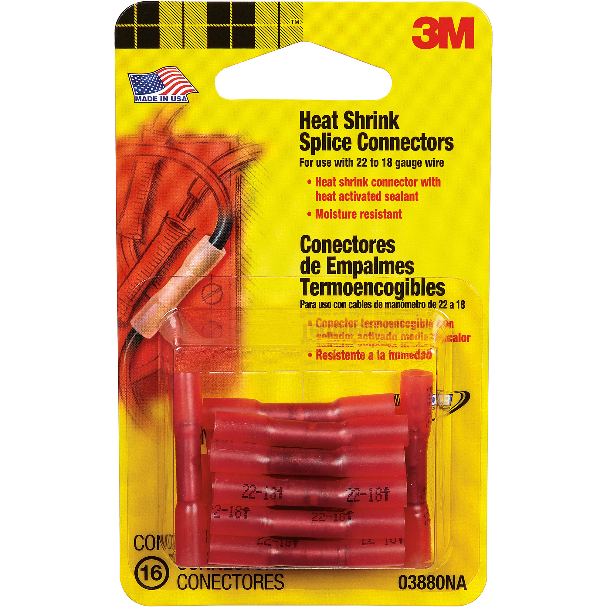 3M Heat Shrink Splice Connectors, Red