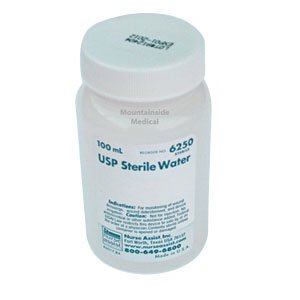 Usp sterile water screw top container 100ml for wound care use part no. 6250 (1/ea)
