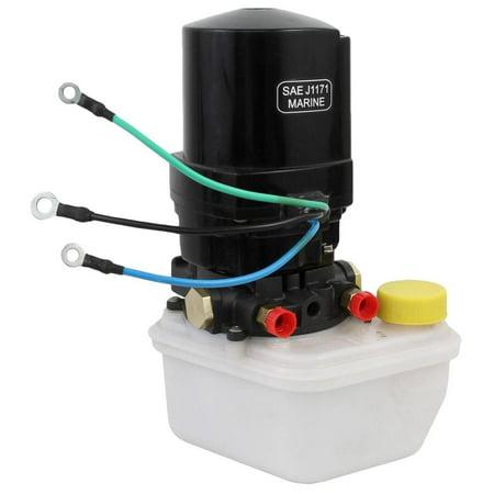 Mercury Marine Water Pump Base (New Tilt Trim MOTOR w/ Pump and Reservoir FITS Mercury Marine 14336a20, 14336a8,)
