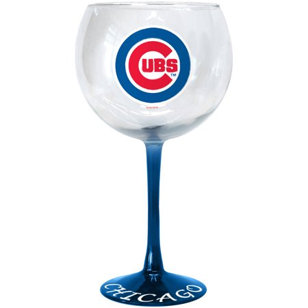 MLB Chicago Cubs Hand Crafted Balloon Wine Glass by
