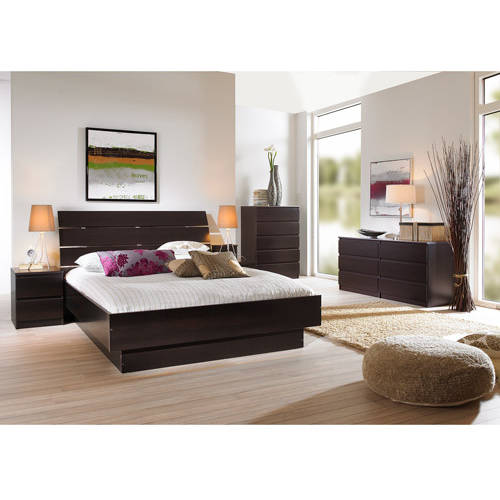 Laguna 3 Piece Full Bed, Night Stand And 5 Drawer Chest Set,
