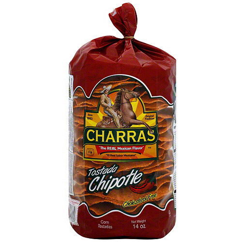 Charras Chipotle Tostada, 12.3 oz (Pack of 8)