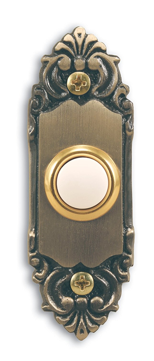 Heath Zenith SL-925-02 Wired Door Chime Push Button Antique Brass with Lighted Center Low voltage hardwired push button - Walmart.com  sc 1 st  Walmart.com & Heath Zenith SL-925-02 Wired Door Chime Push Button Antique Brass ...