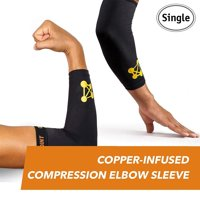 CopperJoint Compression Elbow Sleeve  Copper-Infused High-Performance Design - Single (L)