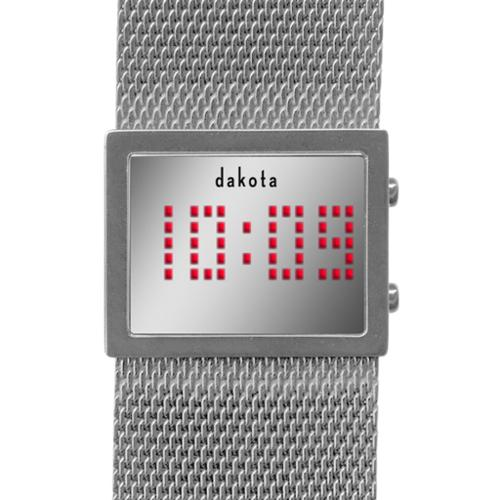 Dakota Watch Dakota Women's Digital Mirror Mesh Band Watch