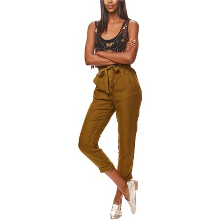 Free People Womens Paper Bag Casual Trousers moss XS/26