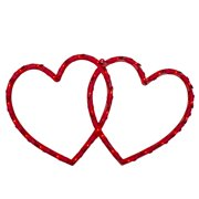 """17"""" Lighted Double Heart Valentine's Day Window Silhouette"""