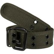 Olive Web Double Grommet Belt