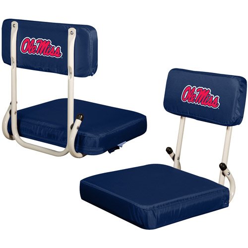 Logo Chair NCAA Ole Miss Hard Back Stadium Seat