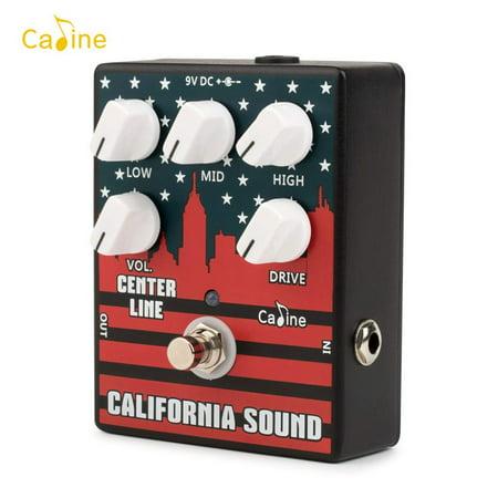 Caline CP-57 High Gain Electric Guitar Overdrive Distortion Effect Pedal 3-Band EQ Aluminum Alloy Housing True