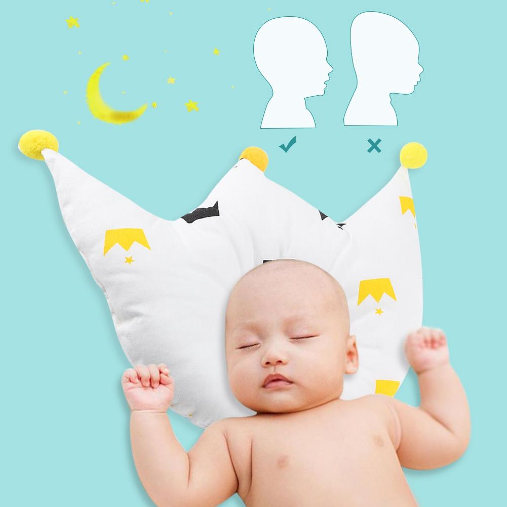 Newborn Baby Infant Soft Crown Pillow Nursery Pad Prevent Flat Head Sleep lovely
