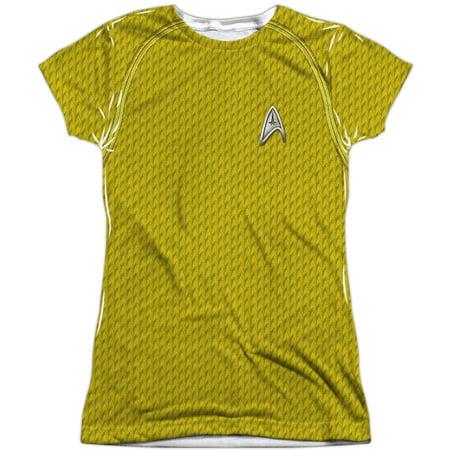 Star Trek  Movie Command Uniform Girls Jr Sublimation White - Star Trek Movie Uniforms