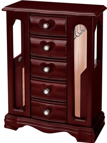 Jiang Feng Wooden Jewelry Box Cherry Walmartcom