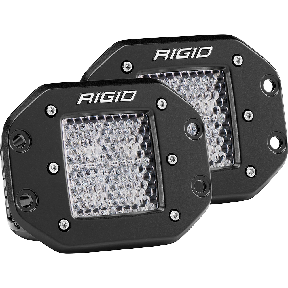 Rigid Industries Dually - Flush Mount - 60 Deg. Lens - Set of 2