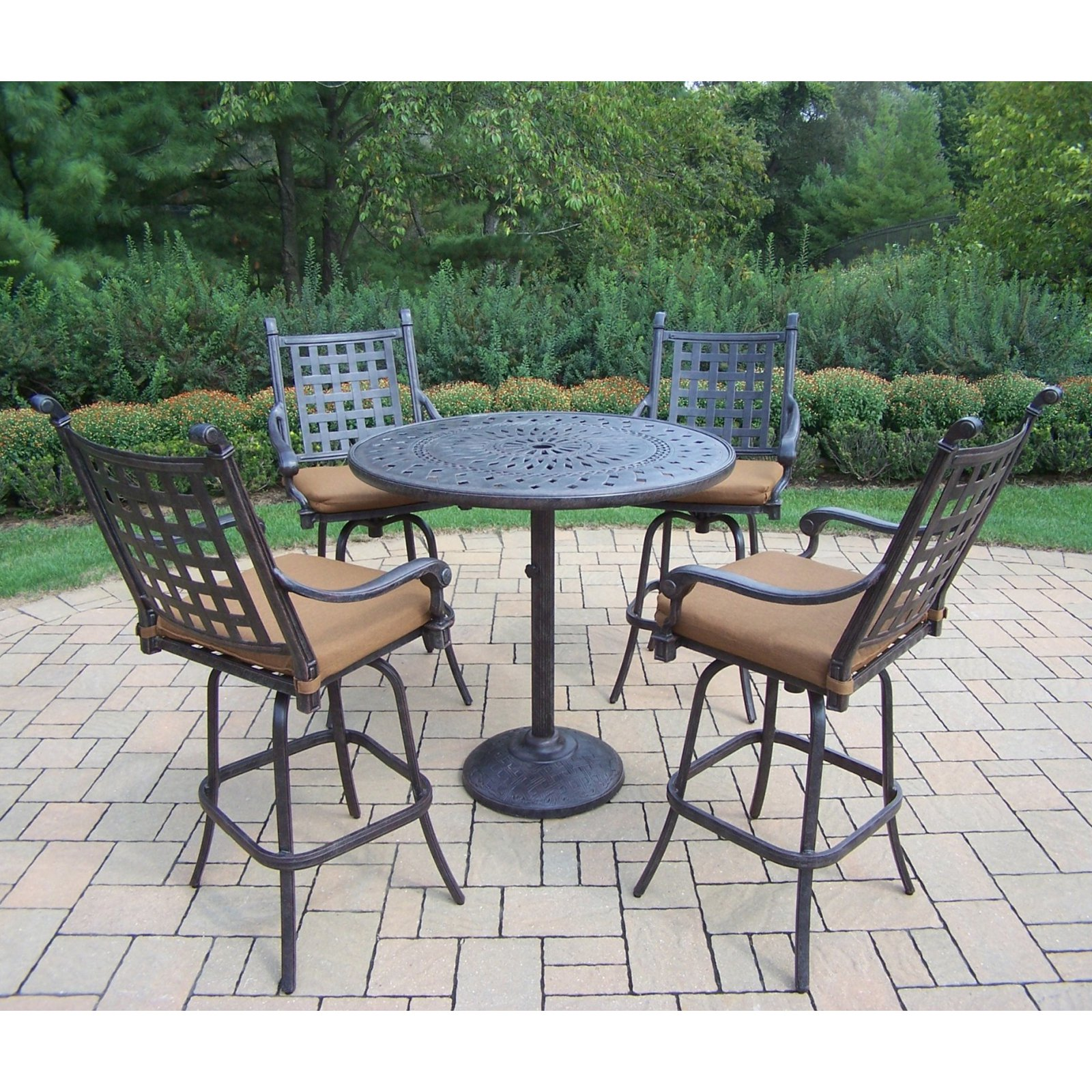Oakland Living Belmont 5 Piece Bar Height Dining Set