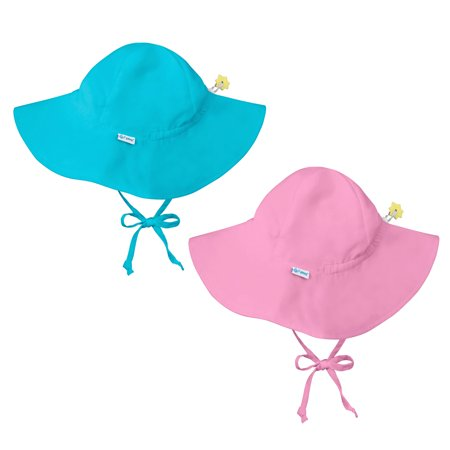 ea3357681c58 i play Baby and Toddler Brim Sun Protection Hat-Aqua Blue and Pink - 2 Pack  - Walmart.com
