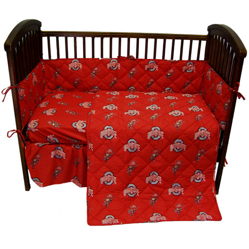 Ohio State 5 Pc Baby Crib Logo Bedding Set Walmart Com