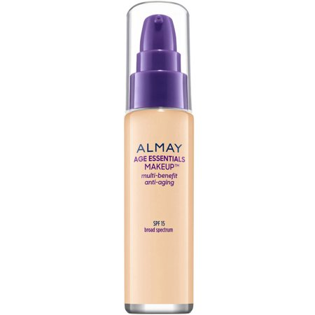 Image of Almay Age Essentials Makeup Foundation, 110 Light Neutral, with Broad Spectrum SPF 15, 1 fl oz