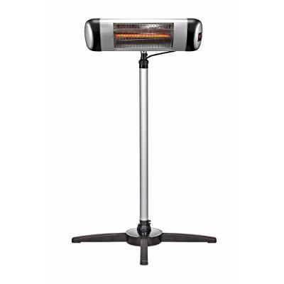 e-joy Indoor/Outdoor Patio Heater with Remote Carbon Infrared Heaters with Offset