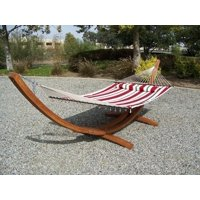 Petra Leisure Deluxe Quilted, Double Padded Hammock Bed w/Pillow. 2 Person Bed. 425 LB Capacity. STAND NOT INCLUDED
