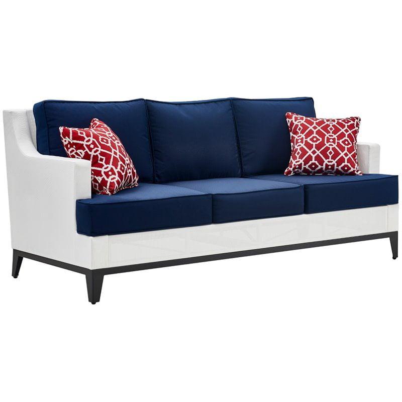 Outstanding Tommy Hilfiger Hampton Outdoor Mesh Sofa Coastal White And Navy Walmart Com Cjindustries Chair Design For Home Cjindustriesco