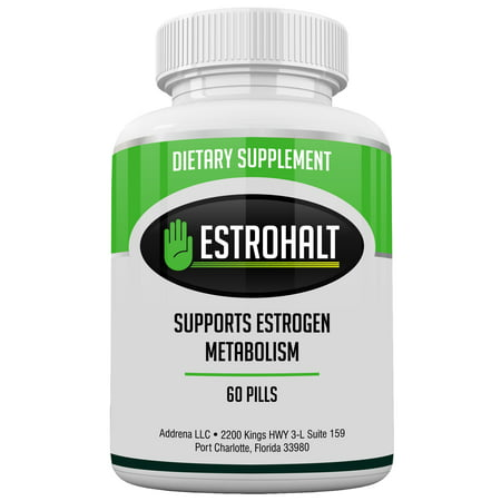 Estrohalt- Estrogen Blocker Pills for Women and Men with DIM and Indole-3-Carbinol | Natural Aromatase Inhibitor Vitamin Supplements to Decrease Female Hormones to Help PCOS, Menopause, and