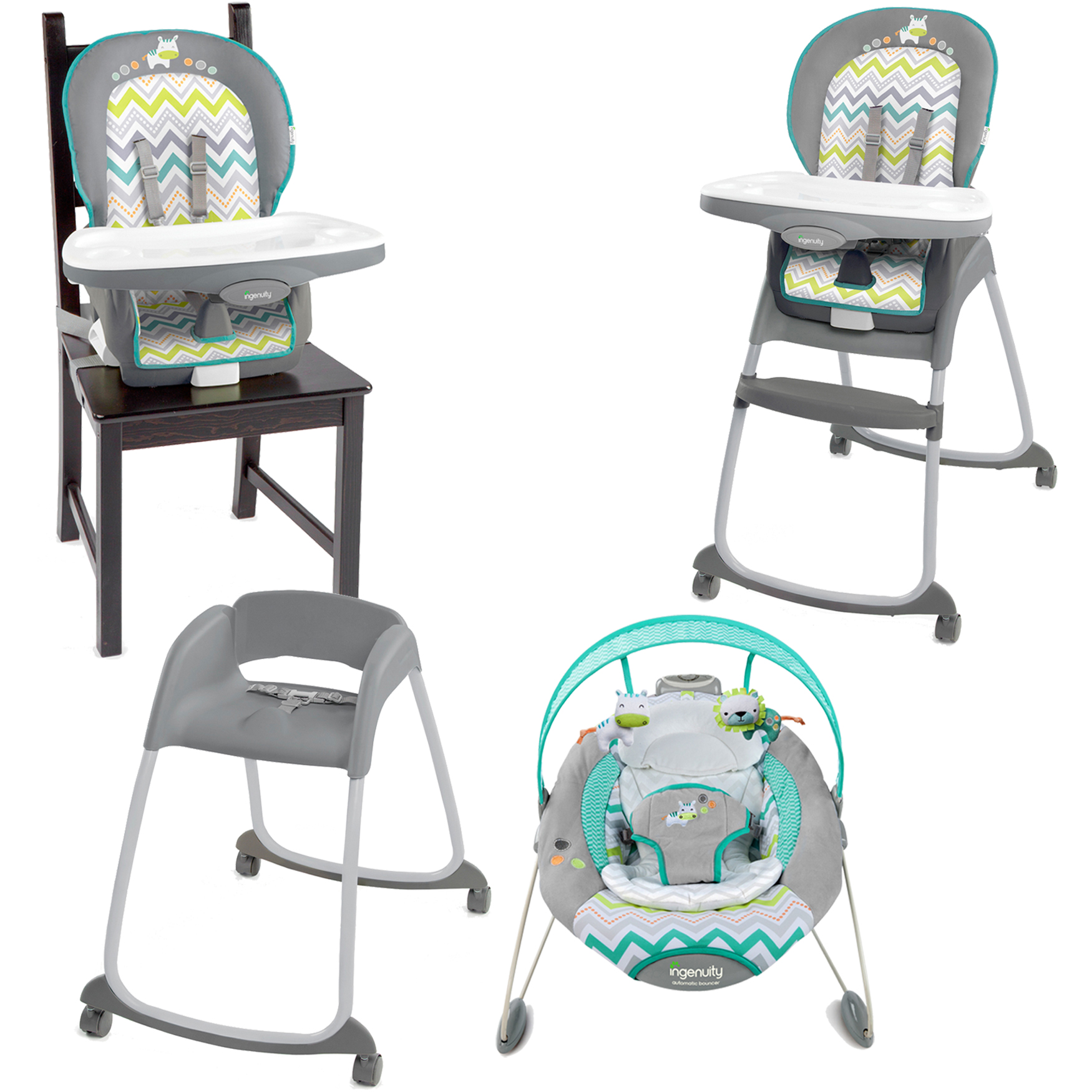 Ingenuity Ridgedale Collection High Chair and Bouncer Value Set