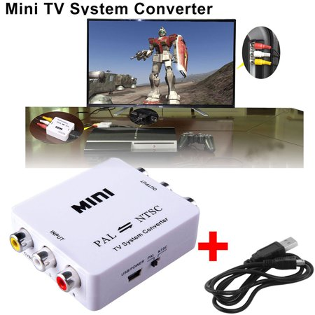 TSV PAL/NTSC/SECAM to PDP/PAL/NTSC Bi directional TV Format System Converter Adapter with USB Power Adapter Support,f