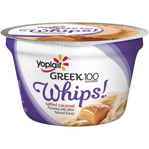 Yoplait Greek 100 Calories Whips! Salted Caramel Fat Free Yogurt Mousse, 4 oz