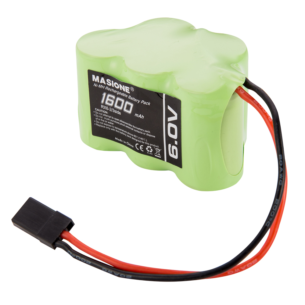 Masione 6V 1600mAh NiMH Side by Side Hump RX Receiver Battery RC