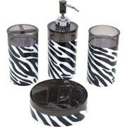 Your Zone Zebra 4-piece Set