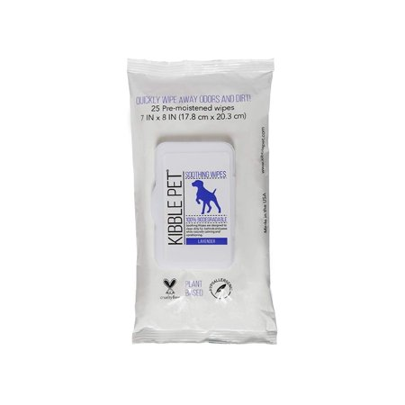 Pet Wipes Soothing Bath (Kibble Pet Lavender Soothing Wipes, 25 Count )