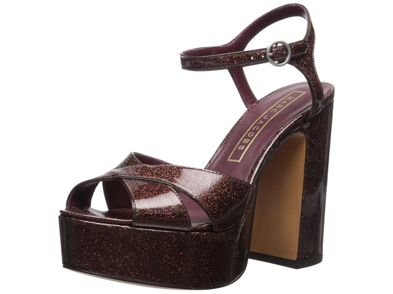 Marc Jacobs Women's Debbie Platform Sandal Platform Pump, Brown, Size 8.0