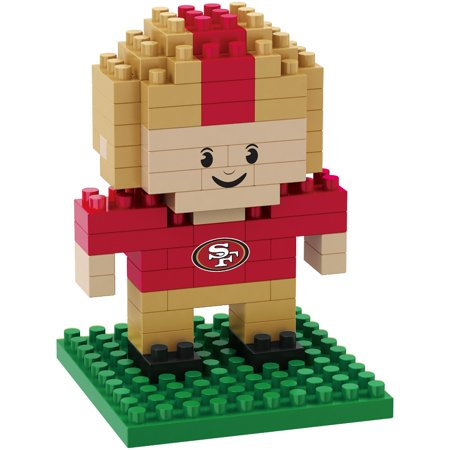 San Francisco 49ers NFL BRXZL 89 Piece 3-D Construction Toy Football Player