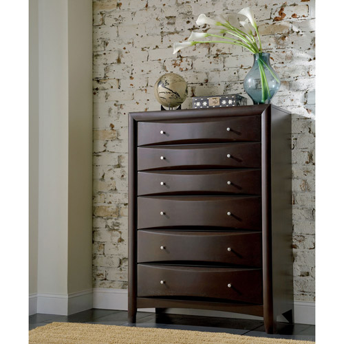 Coaster Company Phoenix Youth Collection 6 Drawer Chest, Cappuccino