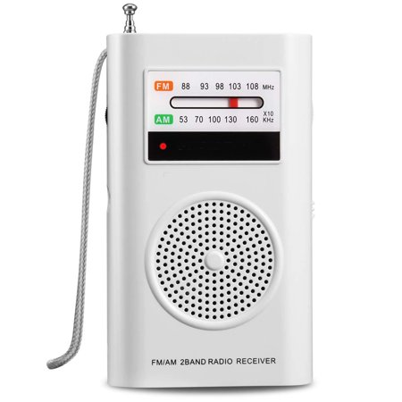 AM FM Radio, Battery Operated Radio, Portable Pocket Radio with Best Reception for Indoor/Outdoor Use, Transistor Radio with Headphone Jack, by MIKA (Best Portable Am Fm Radio Reviews)