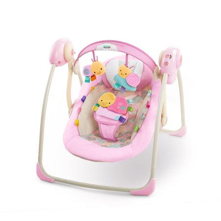 Albolene Taggies Pink Portable Swing