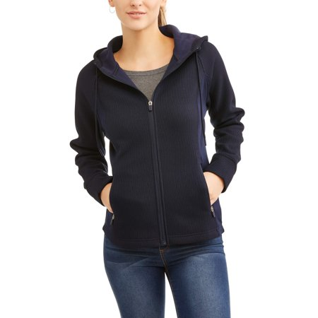23ca578c4c Swiss Tech Women s Waffle Knit Tech Fleece Hooded Jacket - Best ...
