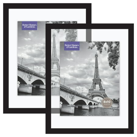 Better Homes & Gardens 11x14 Inch Float Picture Frame, Black, Set of 2 ()