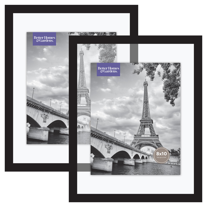 Better Homes & Gardens Float Picture Frame, Black, Set of 2